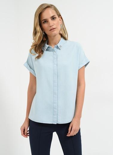 Yakası Taş İşlemeli Gömlek-People By Fabrika